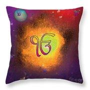 Ek Onkar Galaxy Throw Pillow