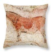 Ekain Cave Horse 2 Throw Pillow