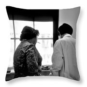 Ekg Lab 1976 University Of Chicago Throw Pillow