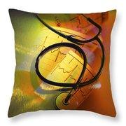Ekg Stethoscope Composite Throw Pillow