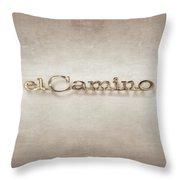 El Camino Emblem Throw Pillow