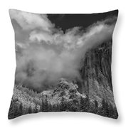 El Capitan And The Stormy Clouds Throw Pillow
