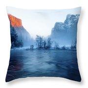 El Capitan At Blue Hour Throw Pillow