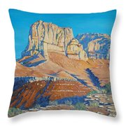 El Capitan At The Guadalupe Peaks Throw Pillow