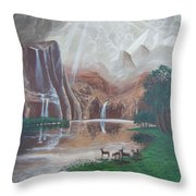 El Capitan Falls Throw Pillow