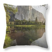 El Capitan In Reflection Throw Pillow