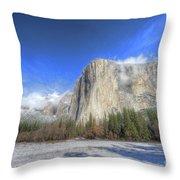 El Capitan Meadow Winter Yosemite National Park II Throw Pillow