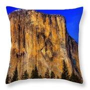 El Capitan Mountain Throw Pillow