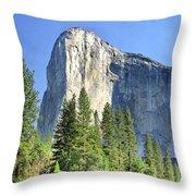 El Capitan Over The Merced River - Yosemite Valley Throw Pillow