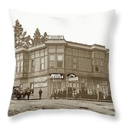 El Carmelo Bakery Lighthouse And Forest Ave. Circa 1890 Throw Pillow