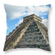 El Castillo Of Chichen Itza Throw Pillow