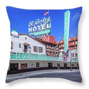 El Cortez Hotel On Fremont Street 2.5 To 1 Ratio Throw Pillow