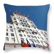 El Cortez With Flags Throw Pillow