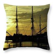 El Galeon Sunrise Throw Pillow