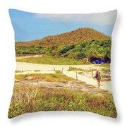 El Garrapatero Beach On Santa Cruz Island In Galapagos. Throw Pillow