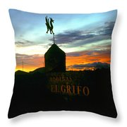 El Grifo Throw Pillow