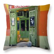 El Hecho Pub Throw Pillow by Tomas Castano