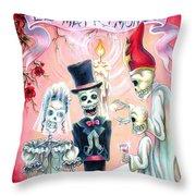 El Matrimonio Throw Pillow by Heather Calderon