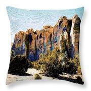 El Morro Cliffs Throw Pillow