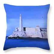 El Morro Havana Cuba Throw Pillow
