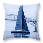 II Mostro And Blue Water Bridge Throw Pillow
