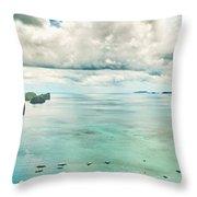 El Nido Bay Throw Pillow