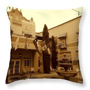 El Paisano Hotel In Marfa Texas Throw Pillow