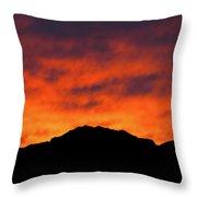 El Paso Fiery Sunset Throw Pillow