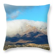 El Paso Franklin Mountains And Low Clouds Throw Pillow
