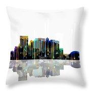 El Paso Mexico Skyline Throw Pillow