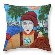 El Payaso Es Throw Pillow
