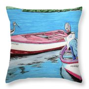 El Pescador De Guanica Throw Pillow