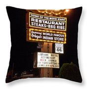 El Rancho Hotel, Nm Throw Pillow