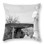 El Santuario De Chimayo Sculpture Garden 2 Throw Pillow
