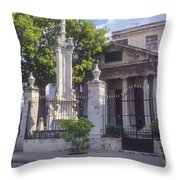 El Templete Throw Pillow