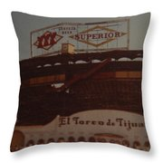 El Toreo De Tijuana Throw Pillow
