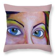 Ela - Face Throw Pillow