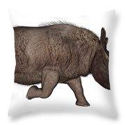 Elasmotherium Throw Pillow