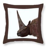Elasmotherium Head Throw Pillow