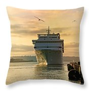 Elation - Leaving For A Cruise Throw Pillow