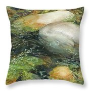 Elbow River Rocks 2 Throw Pillow