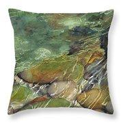 Elbow River Rocks 3 Throw Pillow