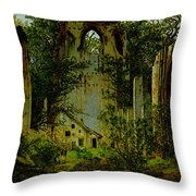 Eldena Ruin Cdf Throw Pillow