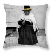 Elderly Beggar In Biblian Throw Pillow