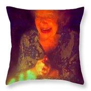 Elderly Joy Throw Pillow