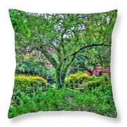 Elderly Man At St. Luke's Garden Throw Pillow