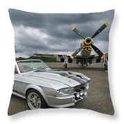 Eleanor Mustang With P51 Throw Pillow