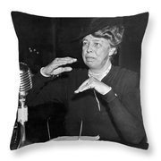 Eleanor Roosevelt At Hearing Throw Pillow