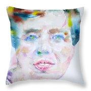 Eleanor Roosevelt - Watercolor Portrait Throw Pillow