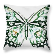 Election 2020 Presidential Candidate Catherien Lott Usa Green Butterfly Throw Pillow